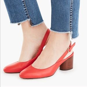 J.Crew NWOT Red Sling Back Pumps